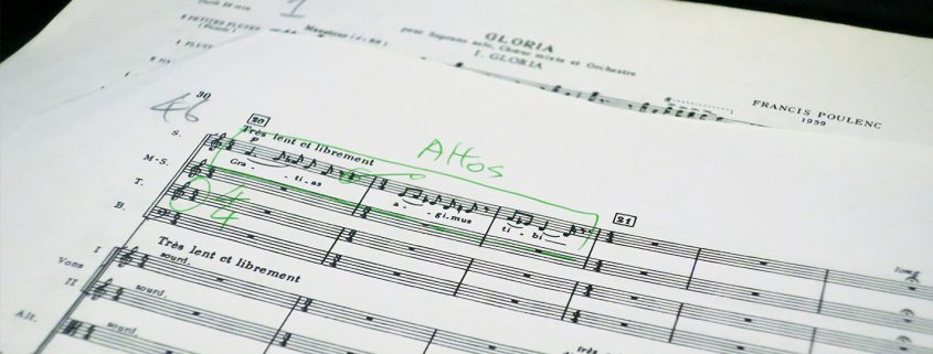 Poulenc's Gloria 2nd movement error