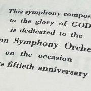 Symphony of Psalms dedication