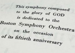 Symphony of Psalms dedication
