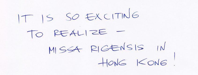 Praulins' Message for Missa Rigensis